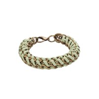 Mamazoo Chain Suede Weave Bracelet Green