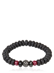 Ocnarf Sairutsa Rock And Raw Bracelet Ruby Red