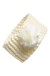 Dena Ear Warmer Pompom Headband Ivory