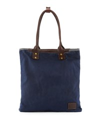 Will Leather Goods Cooper Spur Canvas Tote Bag Navy