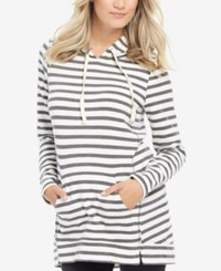Motherhood Maternity Striped Hoodie Multi Stripe