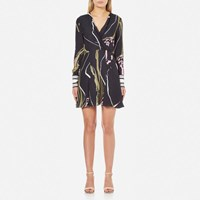 C Meo Collective Women's Been There Dress Black Scarf Print