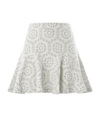 Juicy Couture Bonded Lace Skirt Light Grey