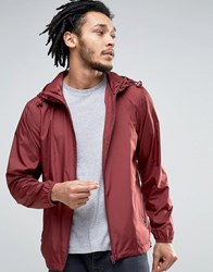 Esprit Light Weight Hooded Jacket Bordeaux Red