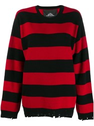 Marc Jacobs Oversized Striped Jumper Red