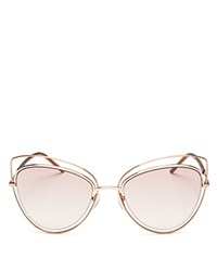 Marc Jacobs Floating Cat Eye Sunglasses 56Mm Gold Pink Gradient Lens