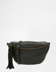 Asos Leather Classic Bum Bag Black