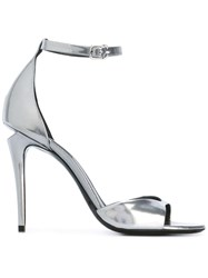 Alexander Wang Strapped Sandals Women Leather 40 Grey
