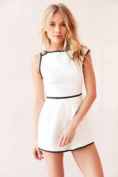 Finders Keepers Asher Sheath Romper Black And White