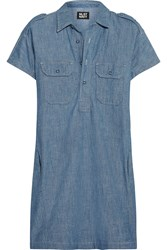 Nlst Cotton Chambray Mini Dress Blue