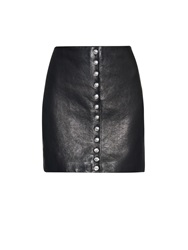 Versus Lion Head Leather Mini Skirt
