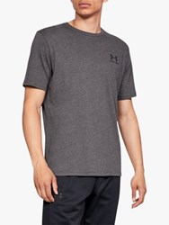 Under Armour Charged Cotton Short Sleeve T Shirt Charcoal Medium Heather Black