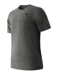 New Balance Short Sleeve Heather Tech Tee Black Heather