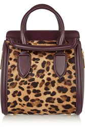 Alexander Mcqueen The Heroine Small Leather And Leopard Print Calf Hair Tote Leopard Print
