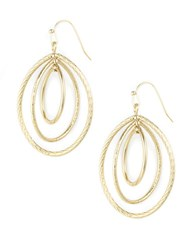 Anne Klein Goldtone Clip On Hoop Earrings Silver