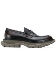Alexander Mcqueen Chunky Sole Penny Loafers Brown