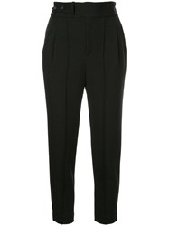 Loveless High Waisted Cropped Trousers Black
