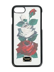 Dolce And Gabbana Rose Iphone 7 Case White