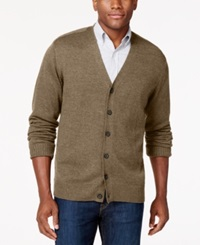Tricots St Raphael Button Front V Neck Cardigan Alpaca Heather