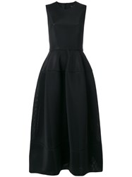 Simone Rocha Structured Midi Dress Women Polyester Acetate 10 Black