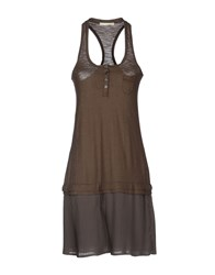 Nioi Dresses Short Dresses Women Khaki