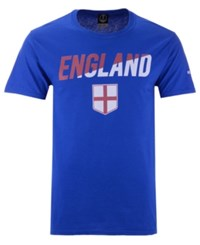 Fifth Sun England National Team Gym Wedge World Cup T Shirt Blue Red White