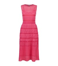 M Missoni Zig Zag Knit Midi Dress Female Pink