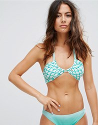 Raisins Mermaid Bikini Top Green