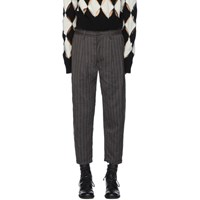 Ziggy Chen Black Striped Carrot Trousers