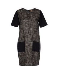 Alpha Studio Short Dresses Dark Brown