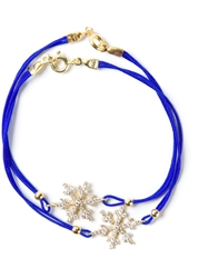 Aamaya By Priyanka Double Snowflake Friendship Bracelet Blue