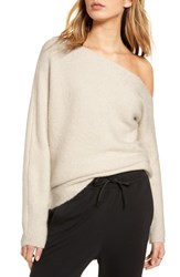 Treasure And Bond One Shoulder Ribbed Sweater