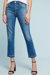 Anthropologie Amo Babe High Rise Straight Cropped Jeans Denim Dark