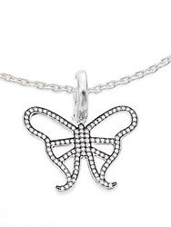 Ippolita Ippolitini 0.39 Tcw Diamond And Sterling Silver Butterfly Charm Pendant