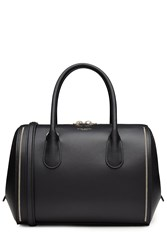 Nina Ricci Leather Tote With Zipper Detail Black