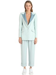 The Hebe Suit Viscose Crepe Boyfriend