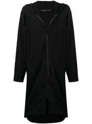 Alchemy Hooded Longline Jacket Black