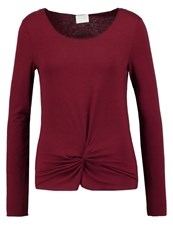 Vila Vikitta Long Sleeved Top Tawny Port Dark Red