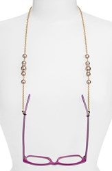 Women's L. Erickson 'Cadabra' Swarovski Crystal Eyeglass Chain Brown Gold
