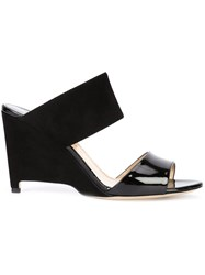 Paul Andrew Wedged Mules Black