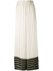 Antonio Marras Contrast Striped Trousers Women Polyester 1 Nude Neutrals