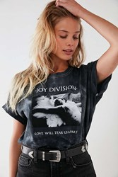 Urban Outfitters Joy Division Love Will Tear Us Apart Tie Dye Tee Washed Black