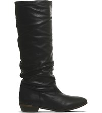 Office Eliza Slouchy Leather Boots Black Leather