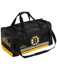 Forever Collectibles Boston Bruins Striped Core Duffle Bag Yellow