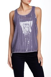 Ro And De Sequin Tank Gray