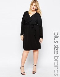 Carmakoma Wrap Front Dress Black