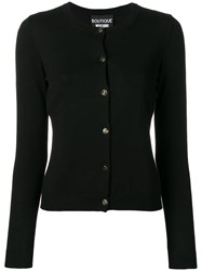 Boutique Moschino Round Neck Cardigan Black