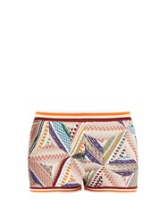 Missoni Patchwork Multi Knit Shorts