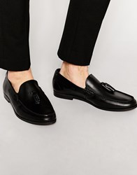 Frank Wright Tassel Loafer In Leather Black
