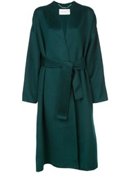Zimmermann Double Breasted Belted Coat Green